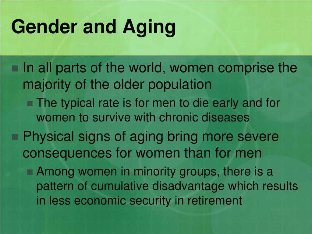 Gender and Aging