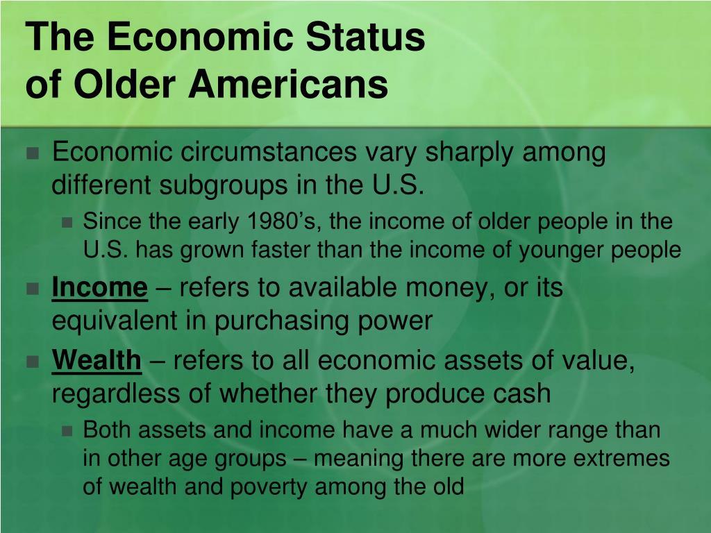 The Economic Status