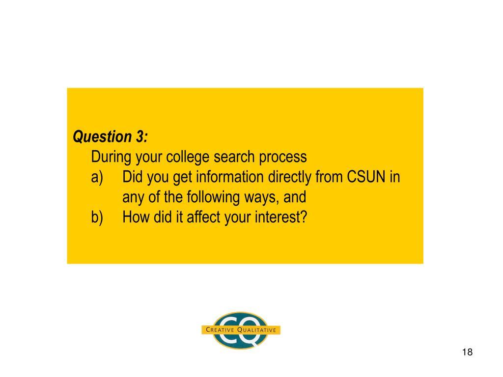 Question 3: