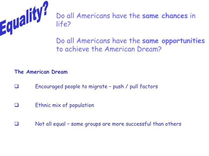 Equality?