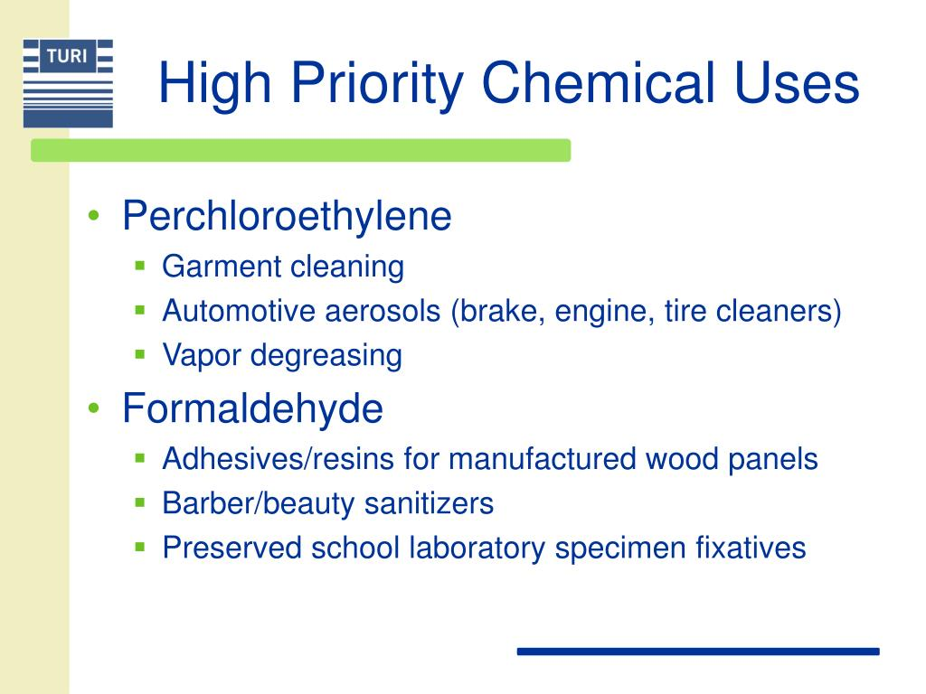 High Priority Chemical Uses