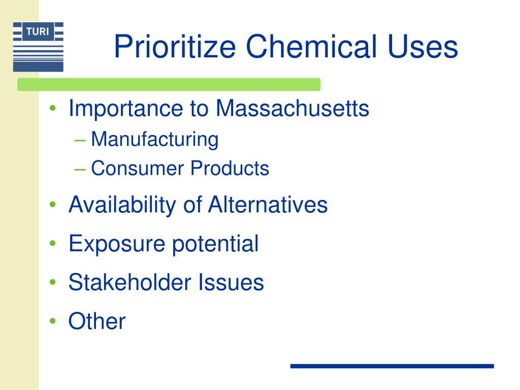Prioritize Chemical Uses