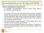 accomplishments special skills12