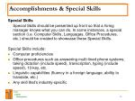 accomplishments special skills13
