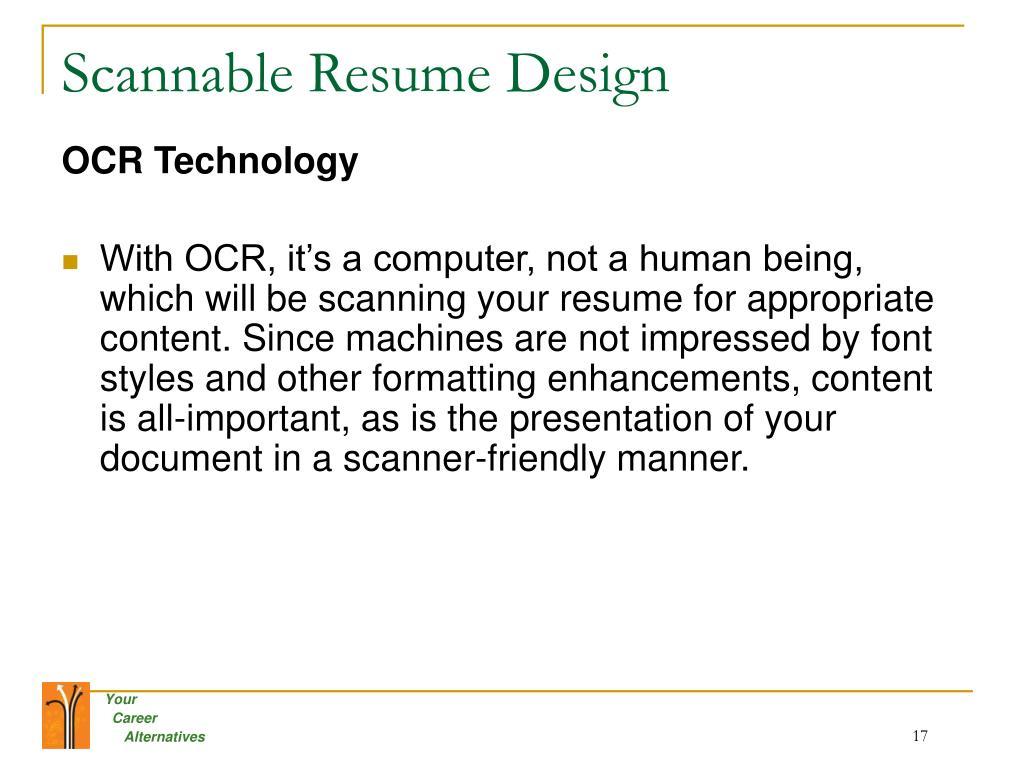 Scannable Resume Design