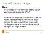 scannable resume design18