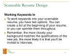 scannable resume design23