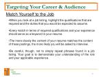 targeting your career audience4