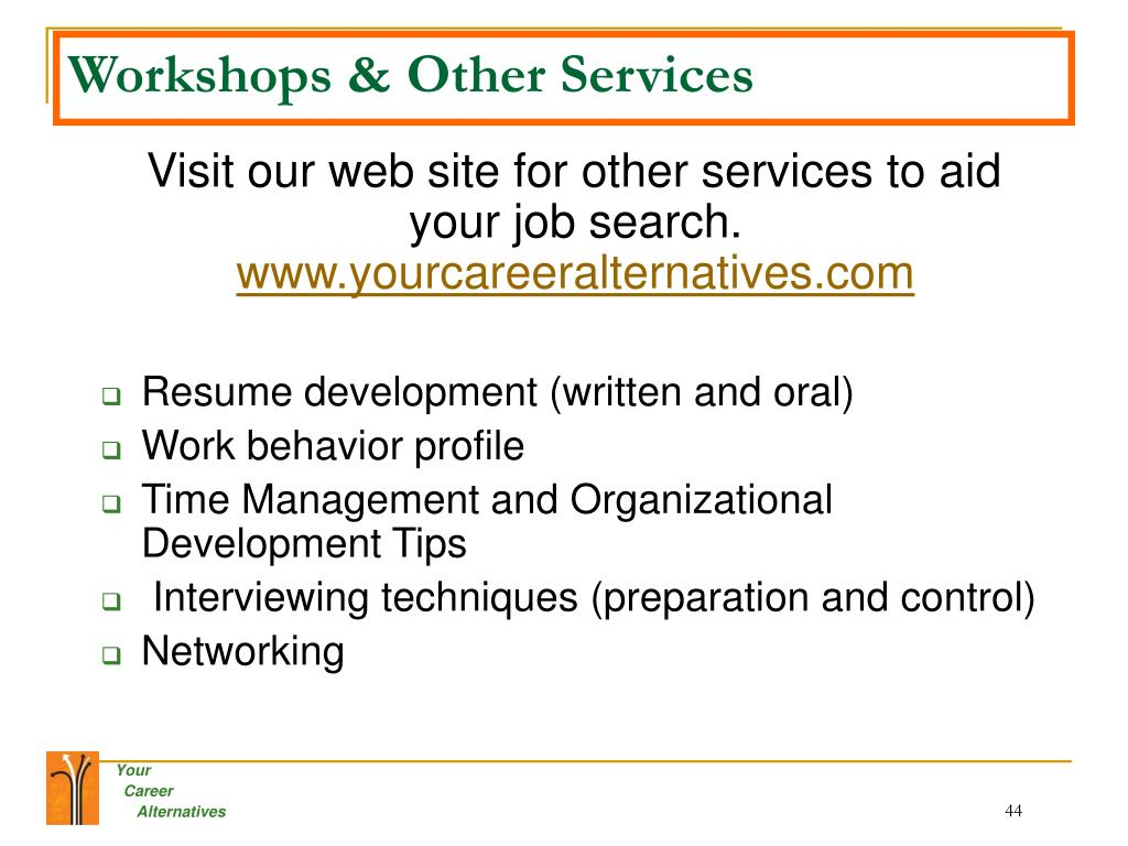 Workshops & Other Services