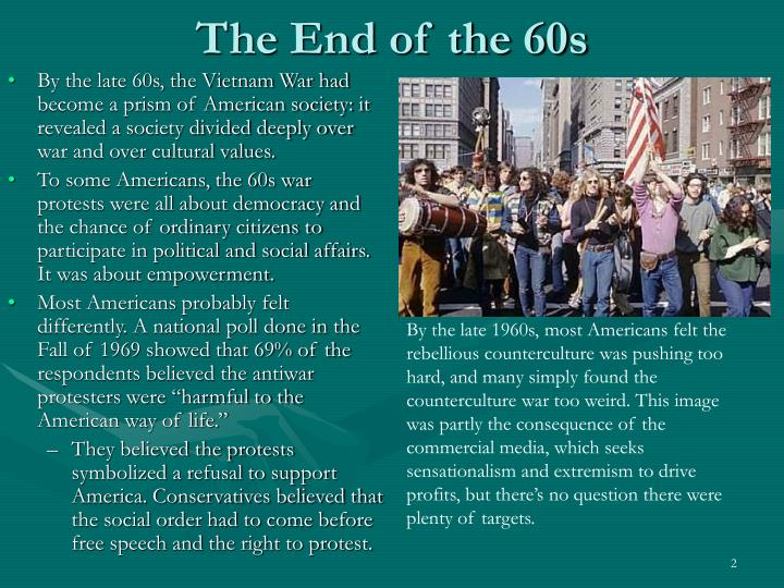 The End of the 60s