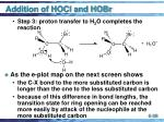 addition of hocl and hobr38