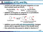 d addition of cl 2 and br 2