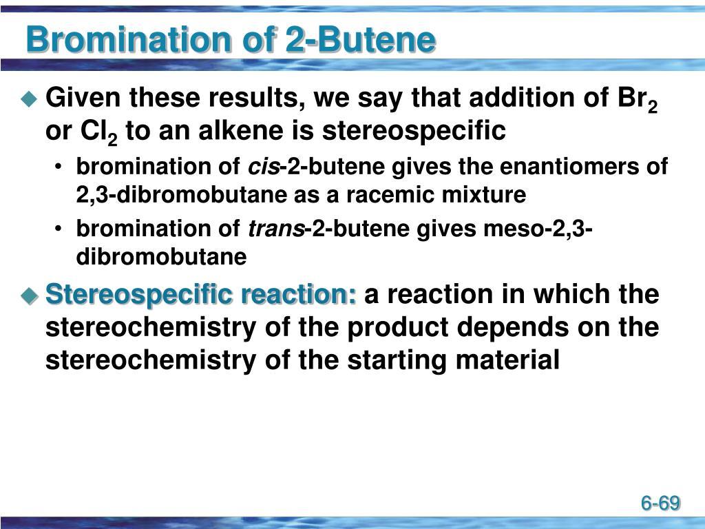 Bromination of 2-Butene