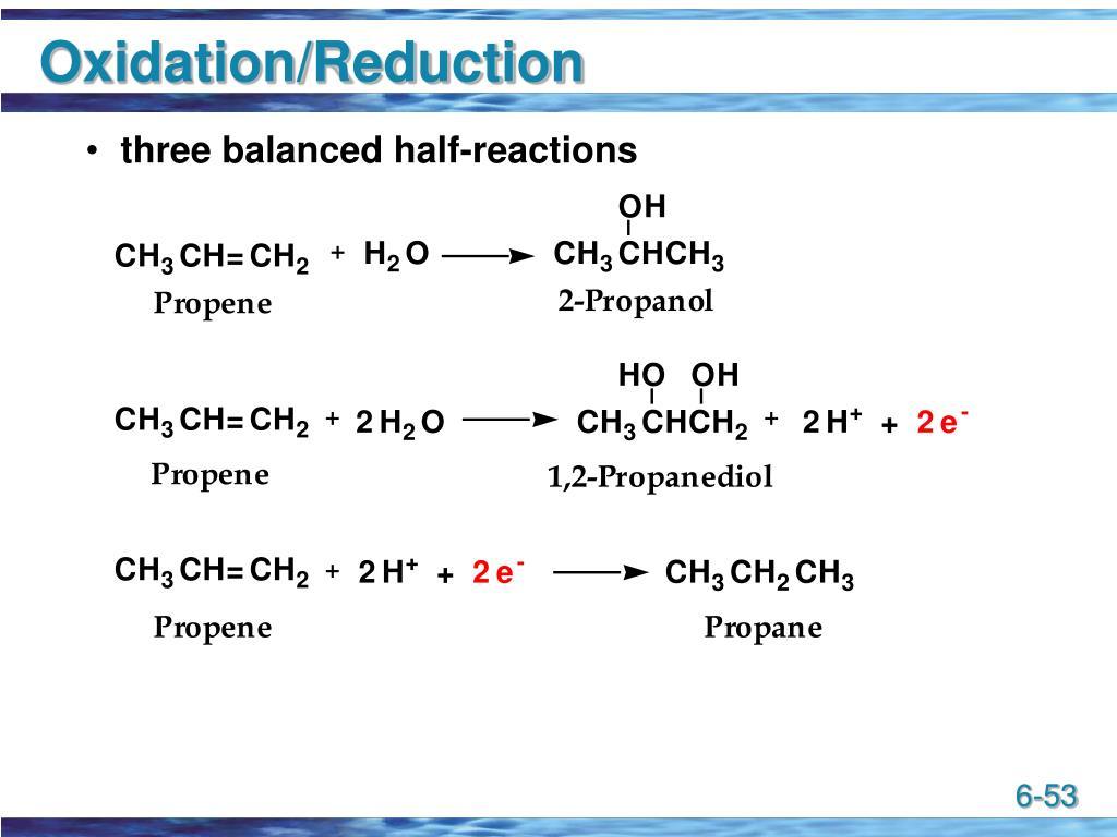 Oxidation/Reduction