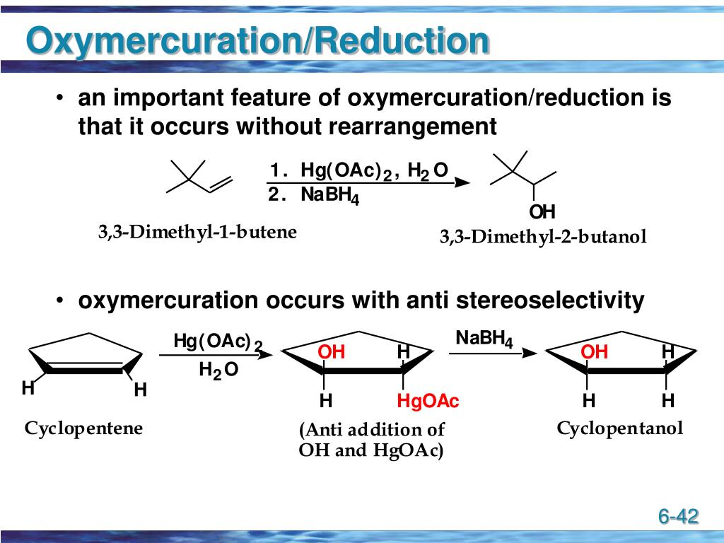 Oxymercuration/Reduction