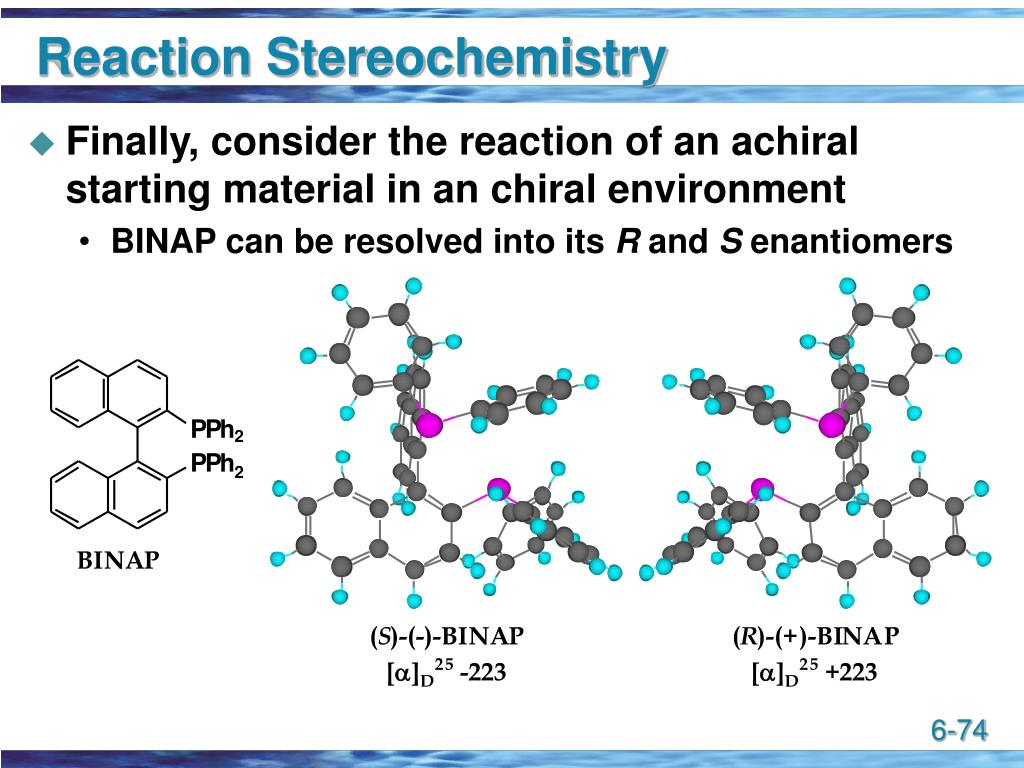 Reaction Stereochemistry