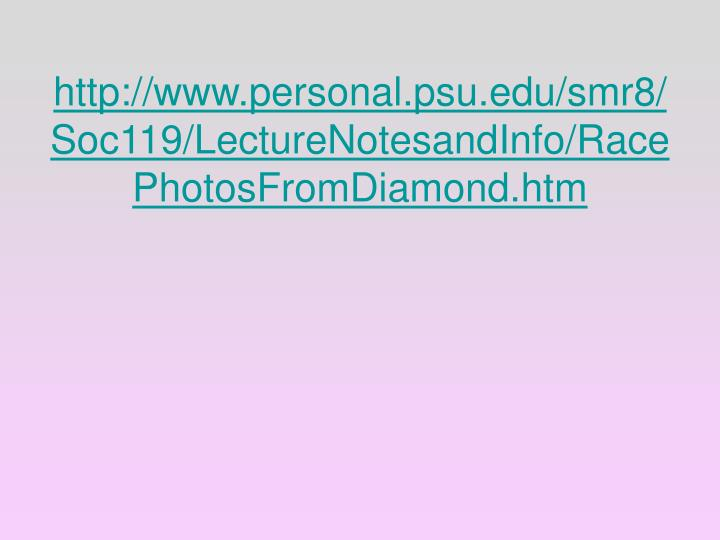 http://www.personal.psu.edu/smr8/Soc119/LectureNotesandInfo/RacePhotosFromDiamond.htm
