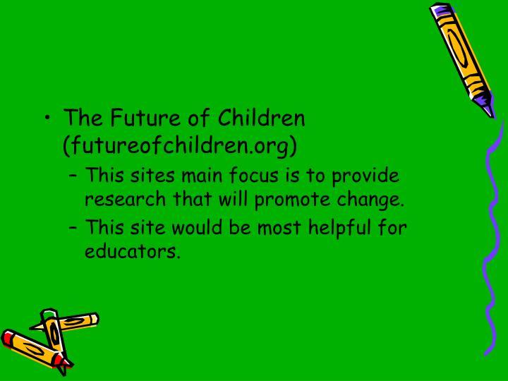 The Future of Children (futureofchildren.org)