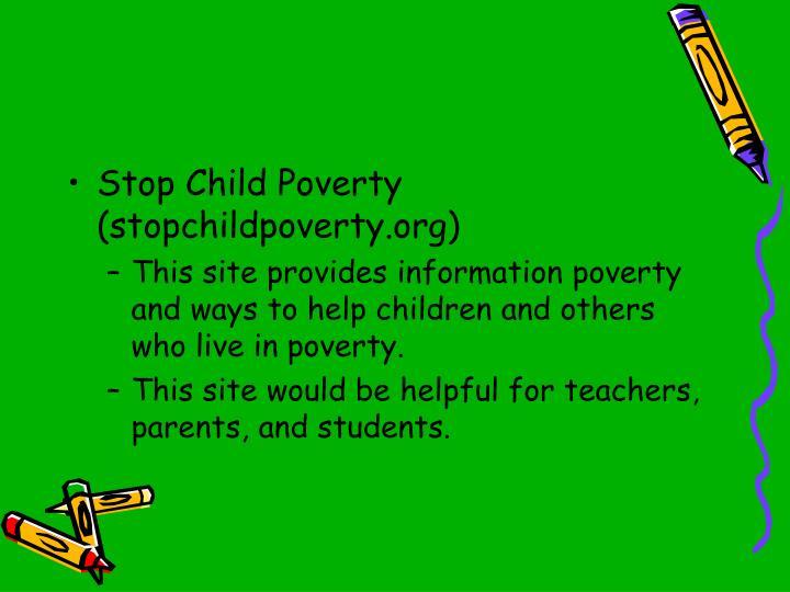 Stop Child Poverty (stopchildpoverty.org)