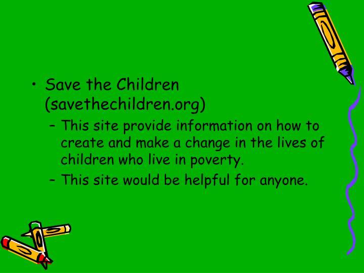 Save the Children (savethechildren.org)