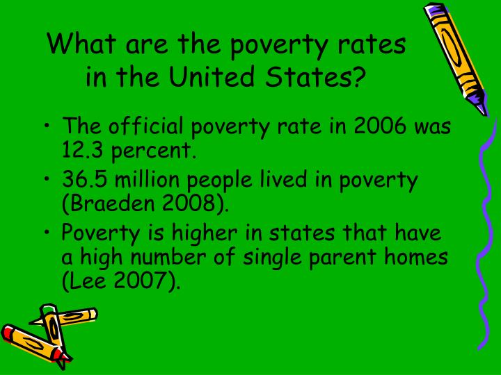 What are the poverty rates in the United States?