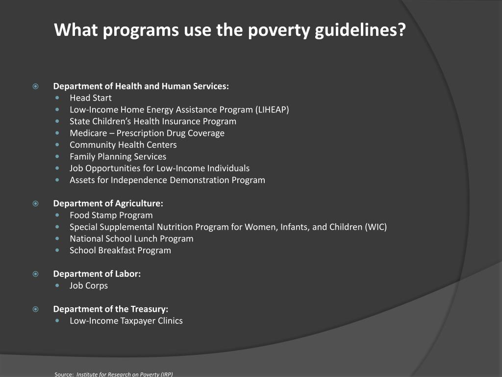 What programs use the poverty guidelines?
