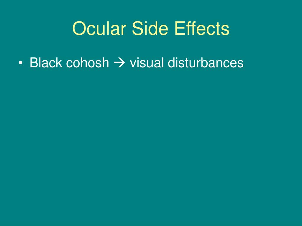 Ocular Side Effects