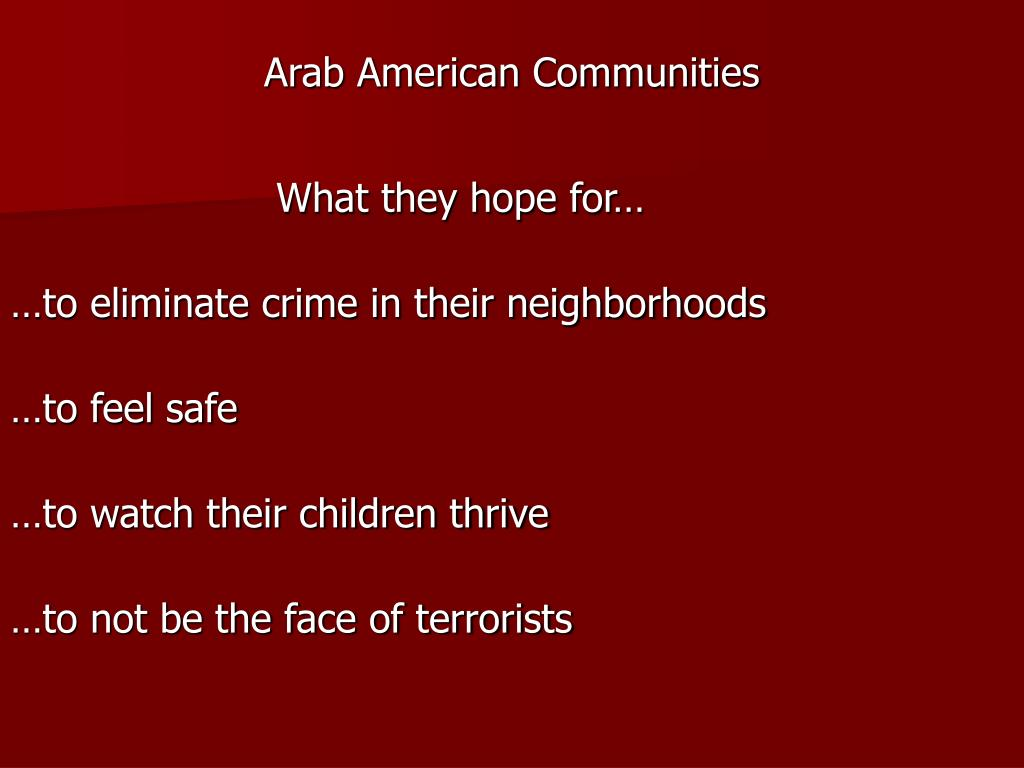 Arab American Communities