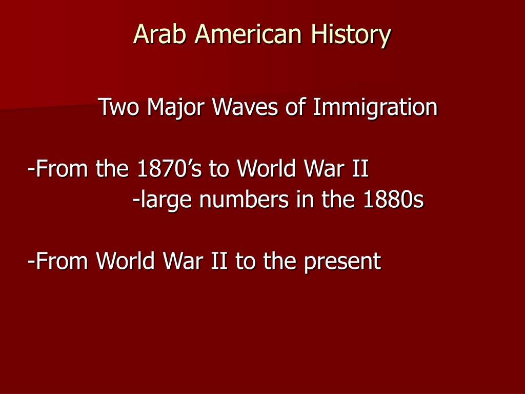 Arab American History