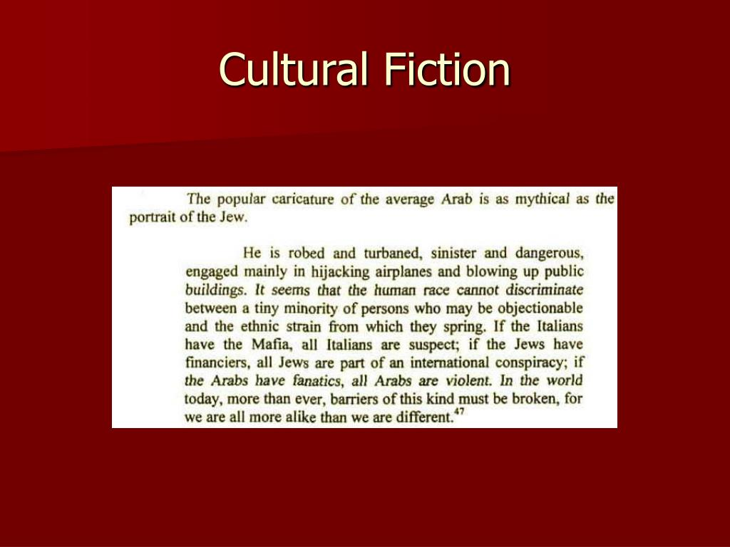 Cultural Fiction