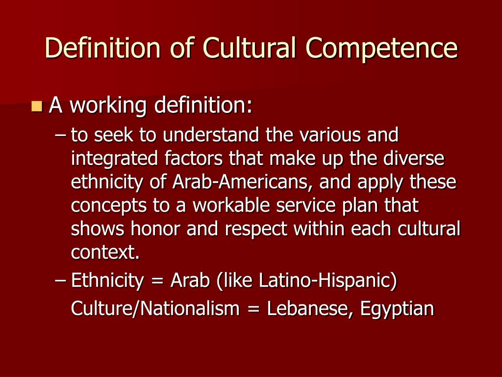 Definition of Cultural Competence