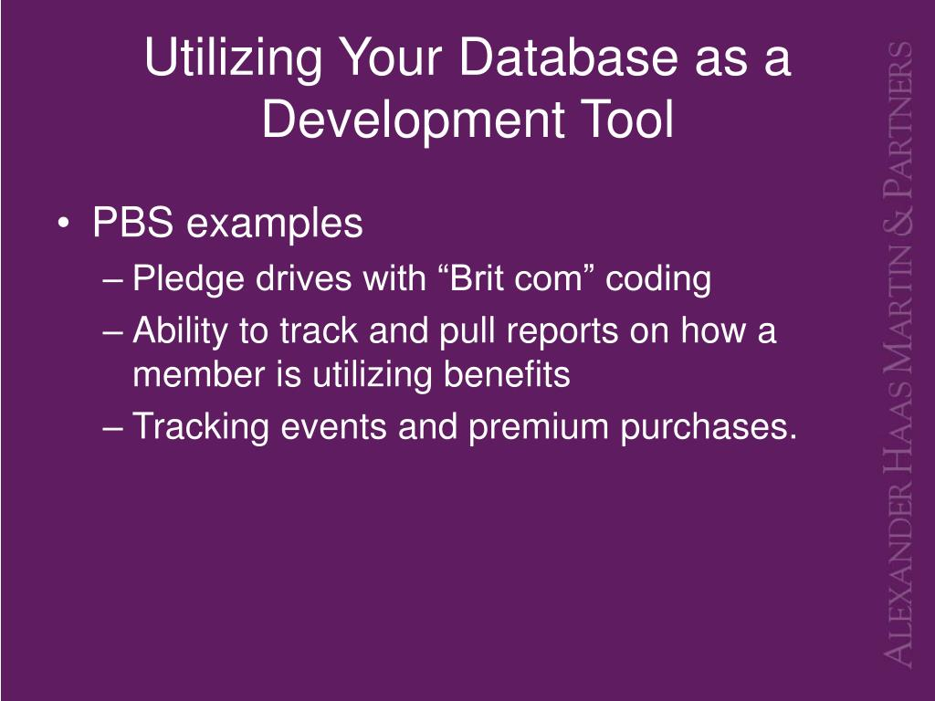 Utilizing Your Database as a Development Tool