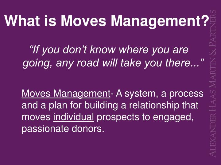 What is moves management
