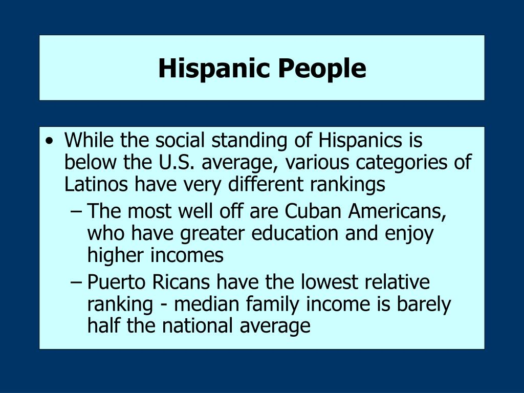 Hispanic People