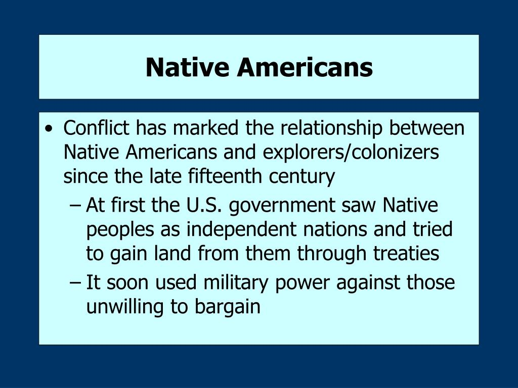 Inequality of native americans