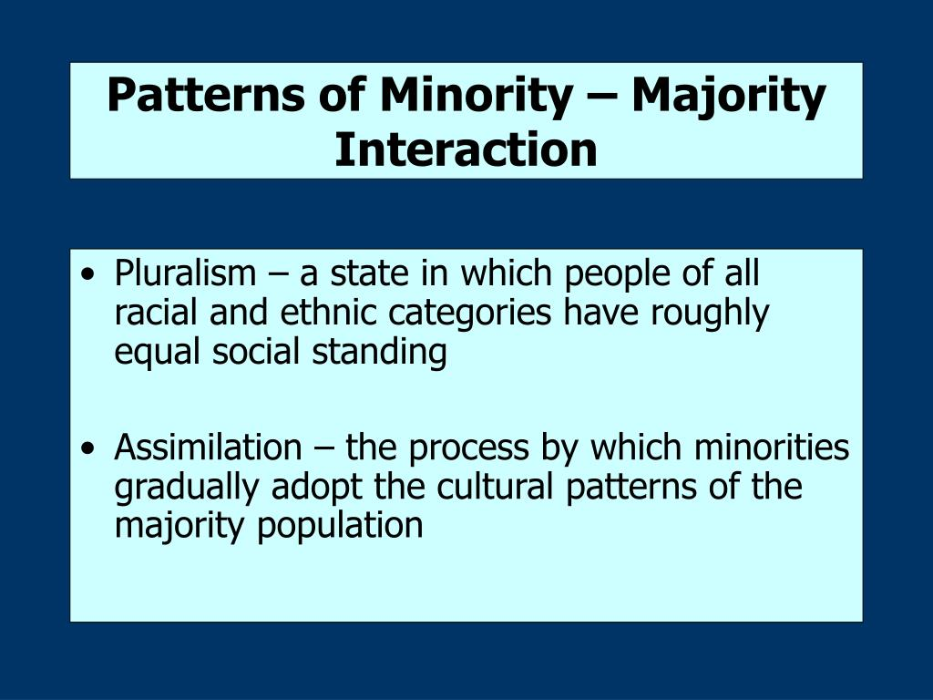 Patterns of Minority – Majority Interaction