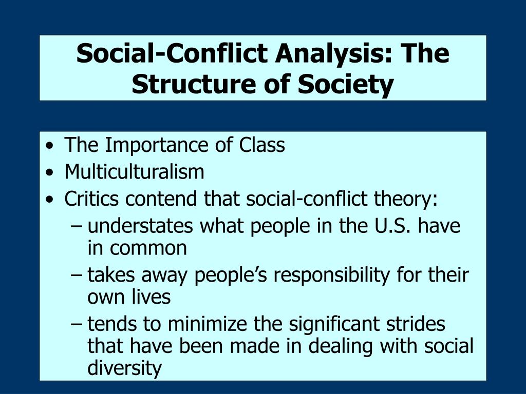 Social-Conflict Analysis: The Structure of Society