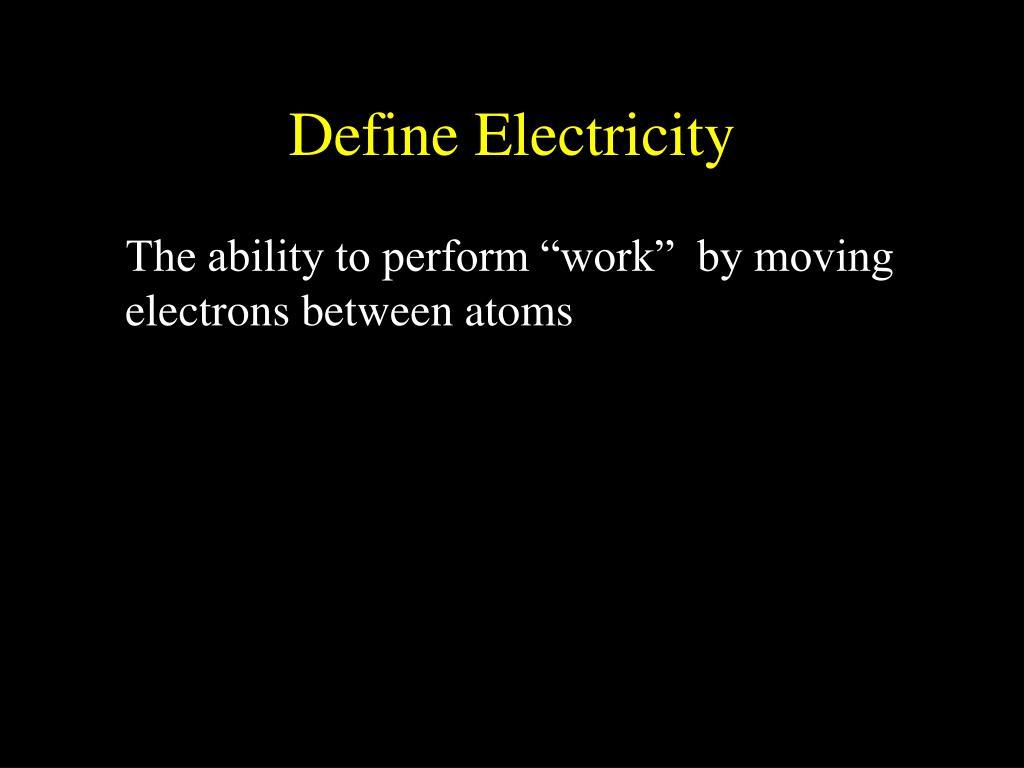 Define Electricity
