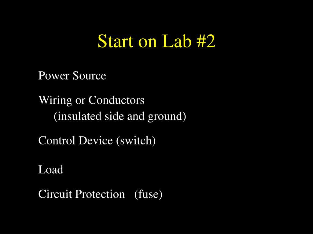 Start on Lab #2
