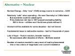 alternative nuclear