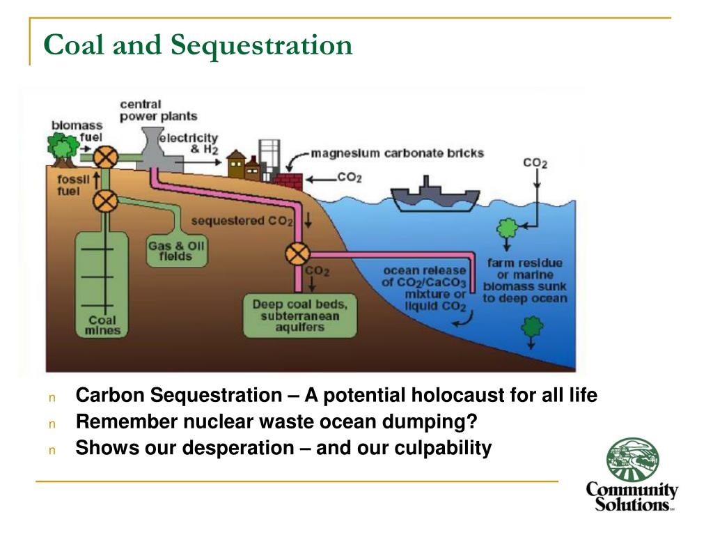 Coal and Sequestration