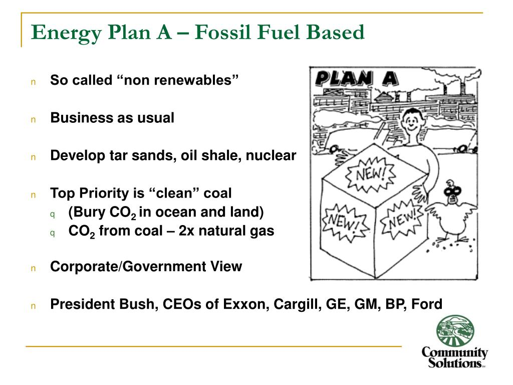 Energy Plan A – Fossil Fuel Based