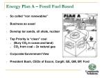 energy plan a fossil fuel based