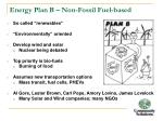 energy plan b non fossil fuel based