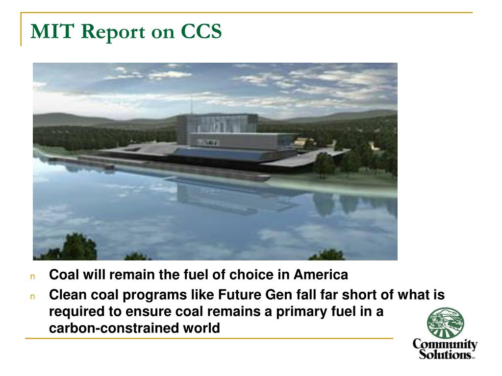 MIT Report on CCS
