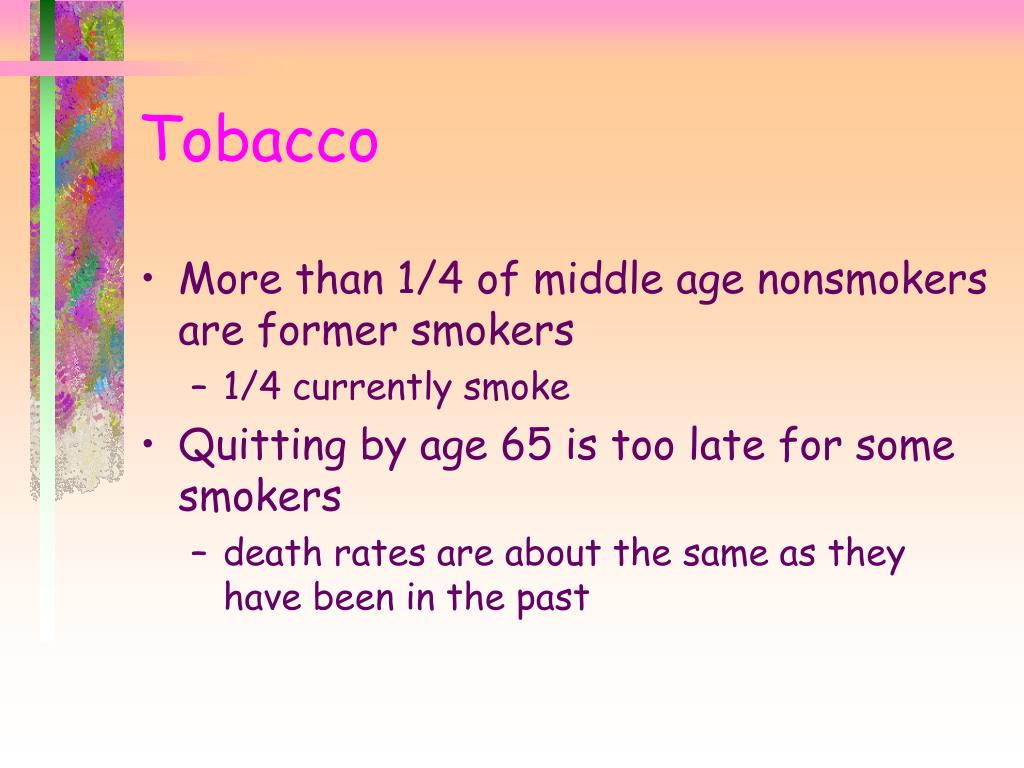 More than 1/4 of middle age nonsmokers are former smokers