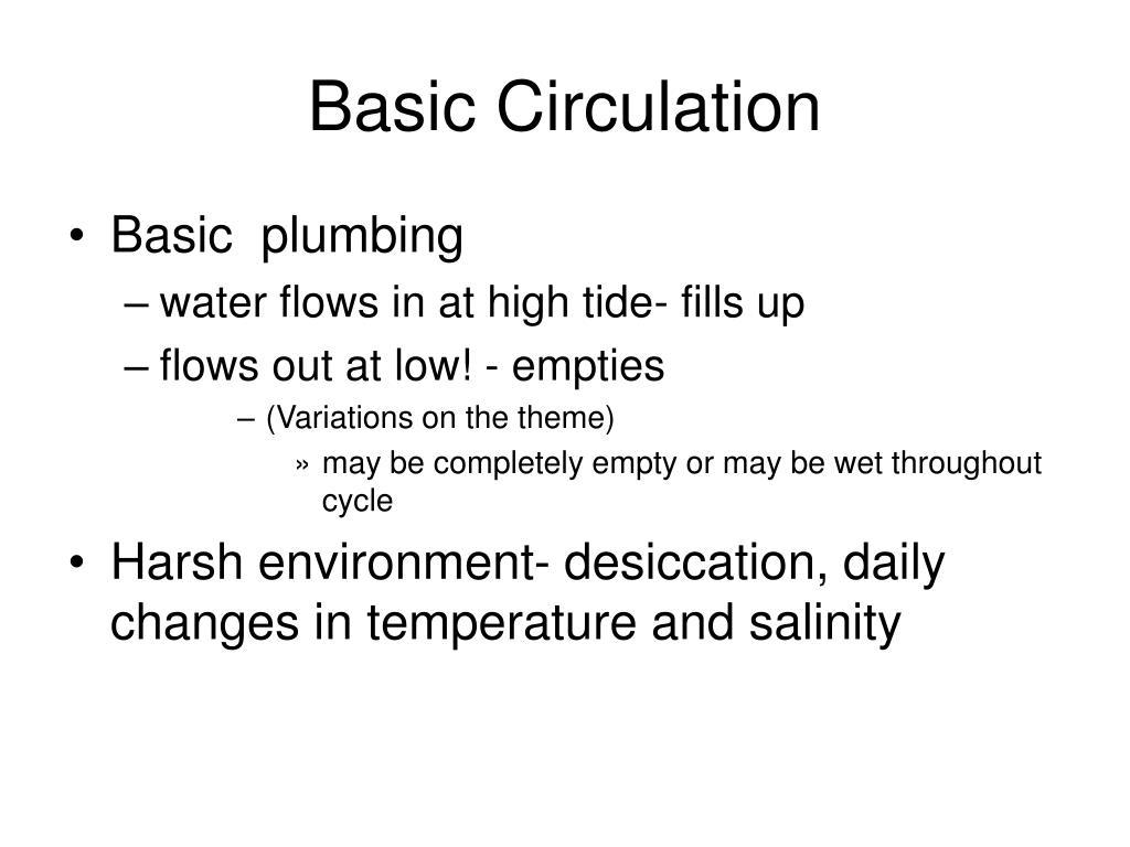 Basic Circulation