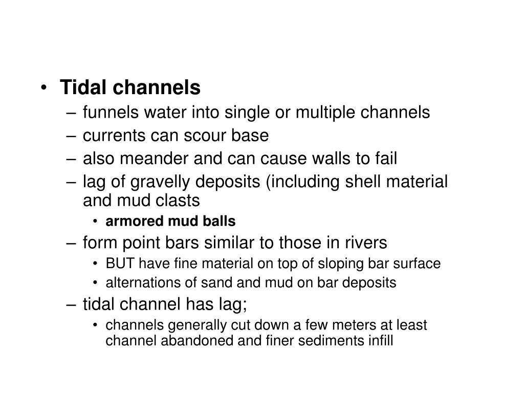 Tidal channels