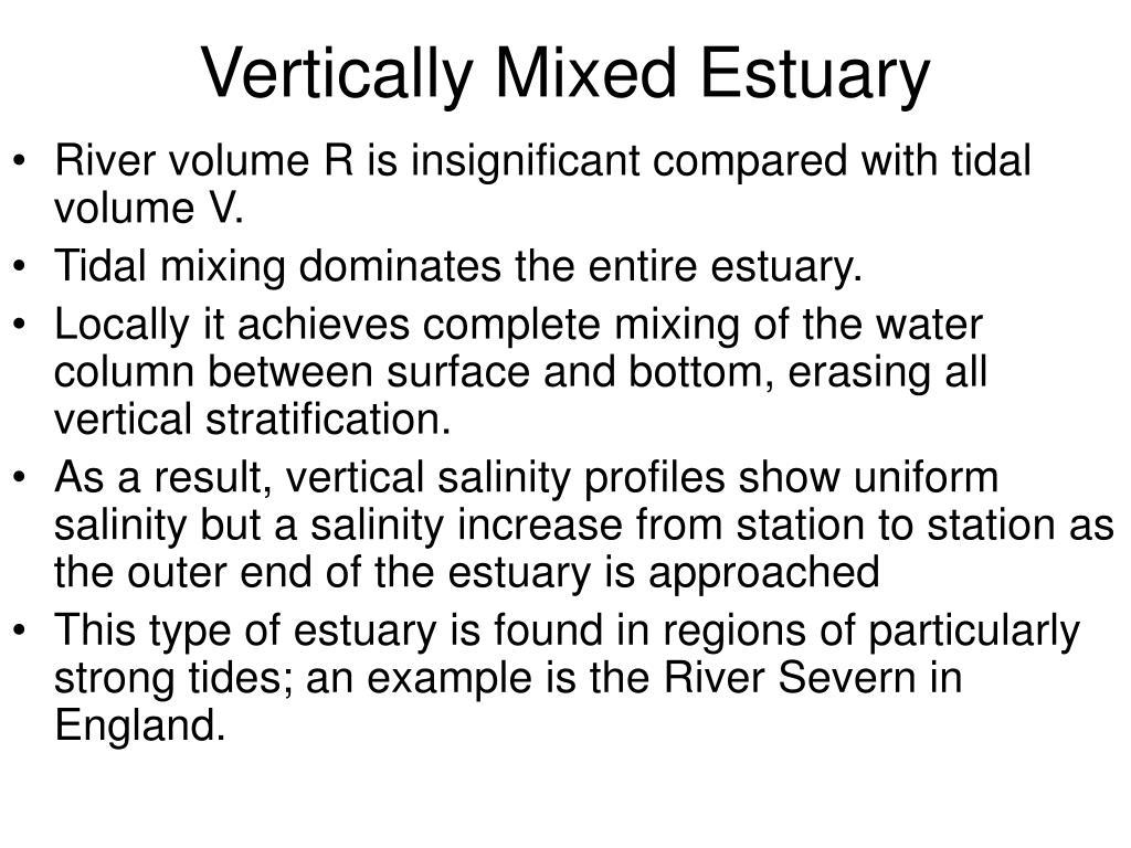 Vertically Mixed Estuary