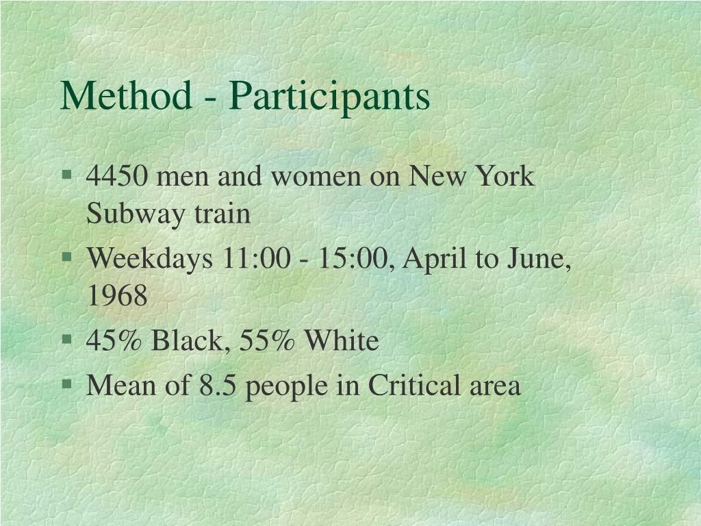 Method - Participants